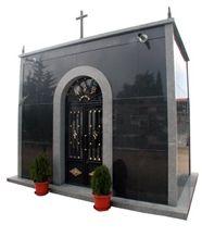 Negro Ochavo Especial Granite Mausoleum, Ochavo Especial Black Granite Mausoleum, Columbarium