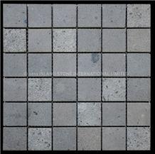 Classic Squares Andesite Mosaic (48mm), Indonesia Grey Andesite