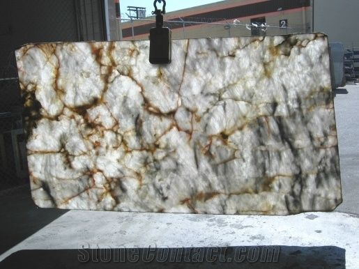 Opal Essence Lumix White Marble Slab From United States