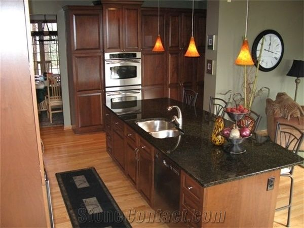 Verde Labrador Green Granite Kitchen Countertops From