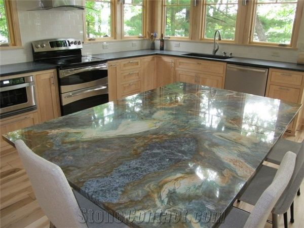 Louise Blue Quartzite Kitchen Countertop From United