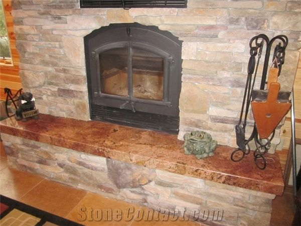 Sucuri Bordeaux Granite Fireplace Hearth From United States