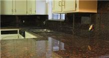 Polished Tan Brown Granite Worktops, Countertops