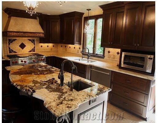 Antique Persa Gold Granite Kitchen Countertop, Antique Persa Gold ...