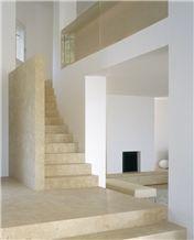 Bianco Avorio Limestone Stairs, Bianco Avorio Beige Limestone Stairs