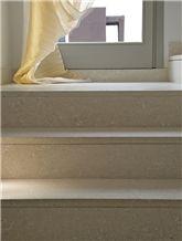 Grigio Argento Limestone Stairs, Grigio Argento Grey Limestone Stairs