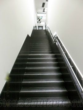 Absolute Black Granite Stairs From Austria 233056
