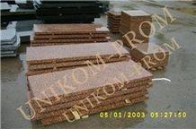 Emeljanov Granite Wall Tiles, Ukraine Red Granite