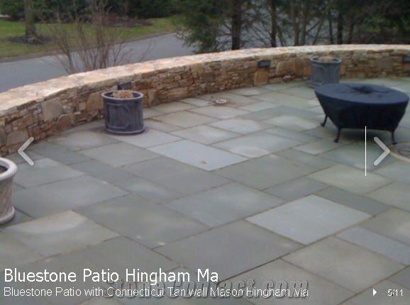 Pa Bluestone Patio With Connecticut Tan