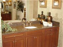 Desert Pearl Granite Bathroom Vanity, Desert Pearl Brown Granite Bath Tops