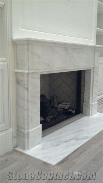 Custom Imperial White Danby Fireplace Surround Imperial