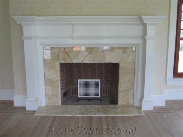 Vanilla Onyx Fireplace Surround, Beige Onyx Fireplace ...