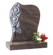 Himalayan Blue Granite Rustic Carved Tombstone
