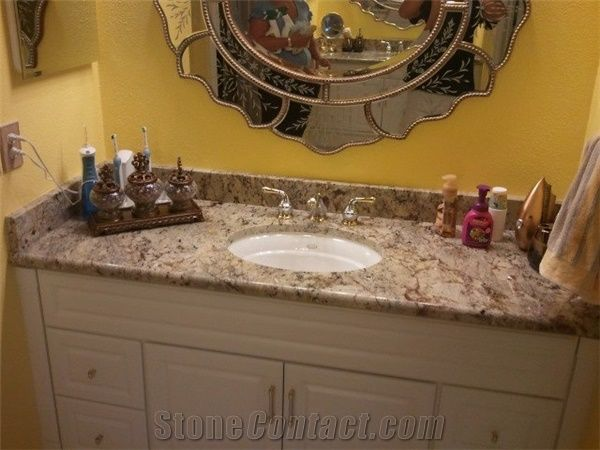 Granite Bathroom Vanity Tops genesis granite bathroom vanity top, genesis yellow granite