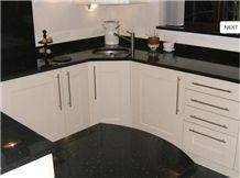 Nero Angola Granite Kitchen Countertop, Angola Black Granite Kitchen Countertops