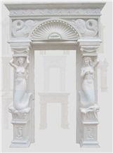 White Marble Carved Door Frame