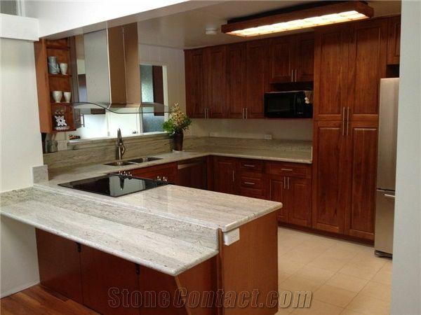 Ivory Cream White Granite Kitchen Countertop Sunset