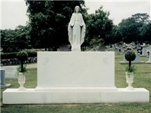 Alabama White Marble Double Monuments