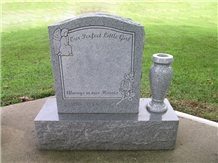 Single Monument for Children and Infants Grey Granite