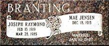 American Mahogany Granite Double Slant Marker, American Mahogany Brown Granite Slant Grave