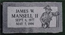 Vermont Grey Granite Single Marker, Barre Grey Granite Slant Grave