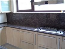 Baltic Brown Granite Kitchen Countertops, Ylaemaan Ruskea Brown Granite Kitchen Countertops