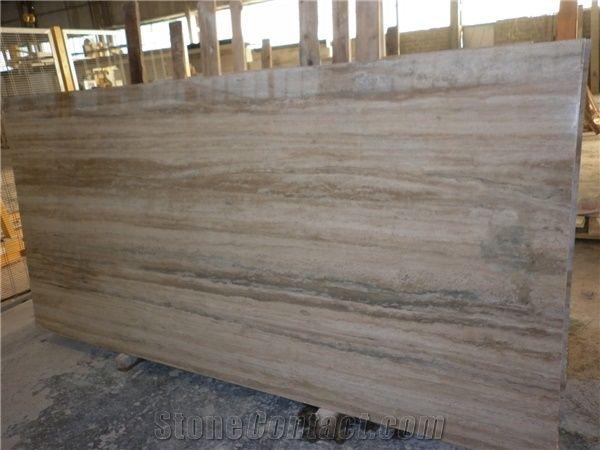 Roman Silver Travertine Slabs Tiles Grey Travertine Floor