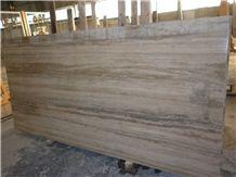 Roman Silver Travertine Slabs & Tiles, Grey Travertine Floor Tiles, Wall Tiles