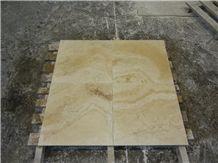 Roman Travertine Wavy Vein Dark Tiles