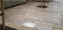 Grigio Billiemi Marble Courtyard Pavement Tiles, Grey Marble Pavers