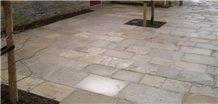 Grigio Billiemi Marble Courtyard Pavement Tiles, Grey Marble Pavers