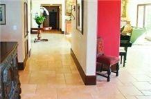 Classic Beige Travertine French Pattern Floor Tiles, Denizli Beige Travertine Tiles