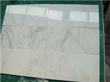 China Popular Cheap Polished Oriental East Sichuan White Marble Polished Thin Tiles, Slabs Skirting, Floor Wall Covering Decoration, Natural Building Stone with Grey Veins/Lines, Indoor House Use