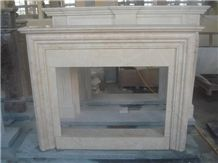 Sunny Gold Marble Fireplace