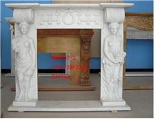 White Jade Marble Fireplace Mantel