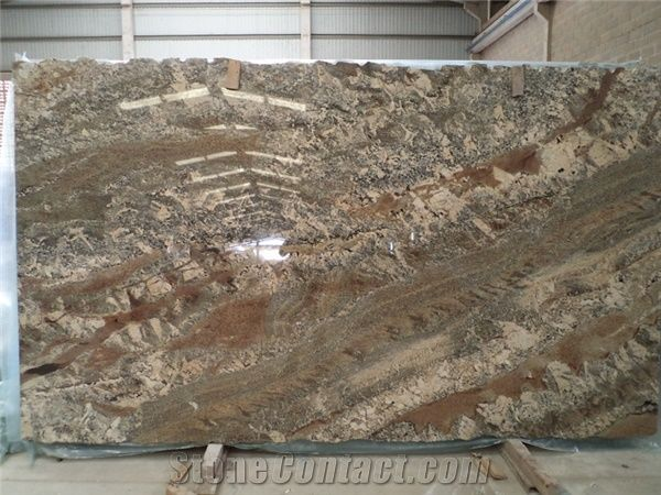 Netuno Bordeaux Granite Slabs From Brazil 232897