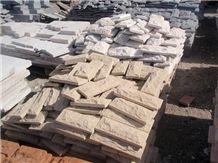 Beige Ararat Felsite Split Face-Mushroomed Wall Stone
