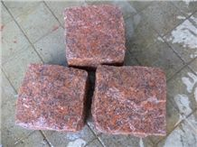 Red Granite Cobble , Red Granite Paver Stone,