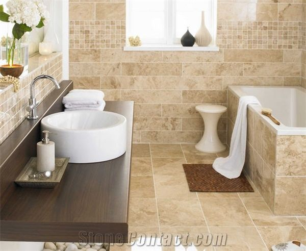 Superieur Cappucino Dark Marble Bathroom Design Wall And Floor, Beige Marble Bathroom  Design