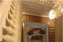 Cremo Delicato Marble Staircase Balustrades, Cremo Delicato White Marble Balustrades