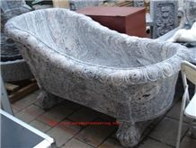 China Juparana Granite Carved Solid Bath Tub