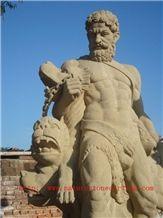 Marble Sculpture Statue, Beige Sandstone Sculpture