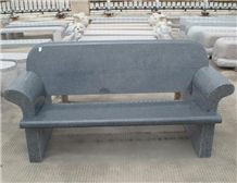 Dark Grey Granite Chair,g654 Granite Bench