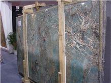 Amazonita Granite Slabs, Brazil Blue Granite