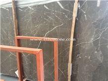 Olive Maron Marble Slabs, Turkey Brown Marble