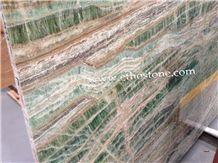 Verde Bamboo Quartzite Slabs, Brazil Green Quartzite