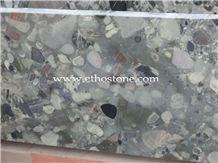 Verde Marinace Granite Slab, Brazil Green Granite