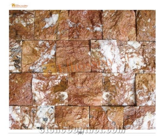 Red Rustic Marble Split Face Mosaic Rosso Antiquato Red Marble