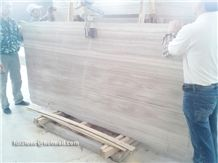 White Wood Grain Marble Slabs,White Wood Vein Marble Slabs, Wooden White Marble Slabs