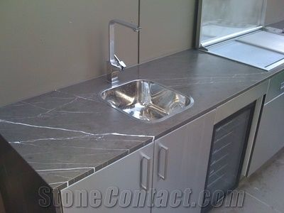 Iran Marble Pietra Grey Kitchen Countertop Pietro Grey